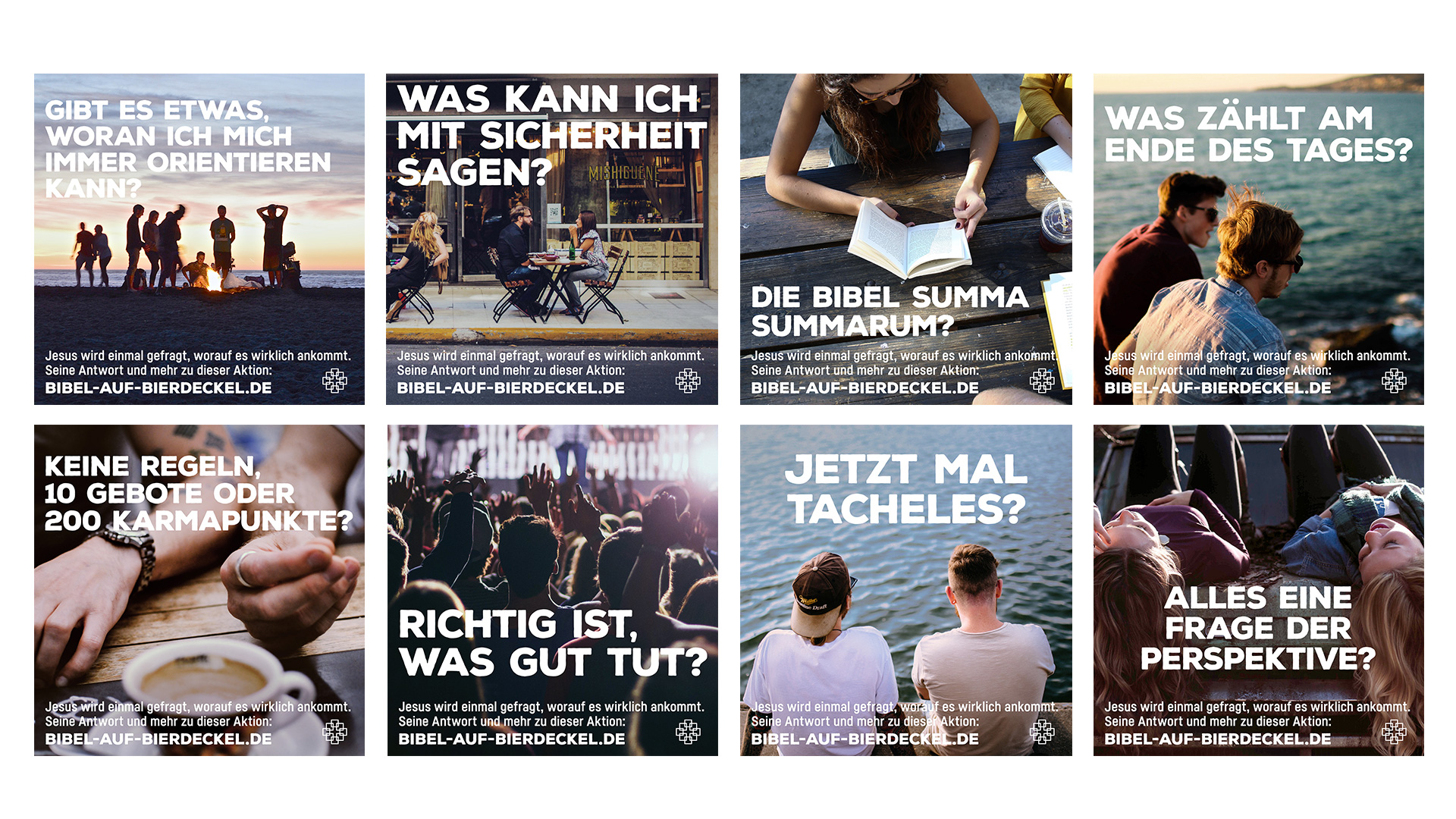 EKHN Impulspost Bibel auf Bierdeckel ©gobasil GmbH ~ Agentur für Kommunikation, Hamburg Hannover