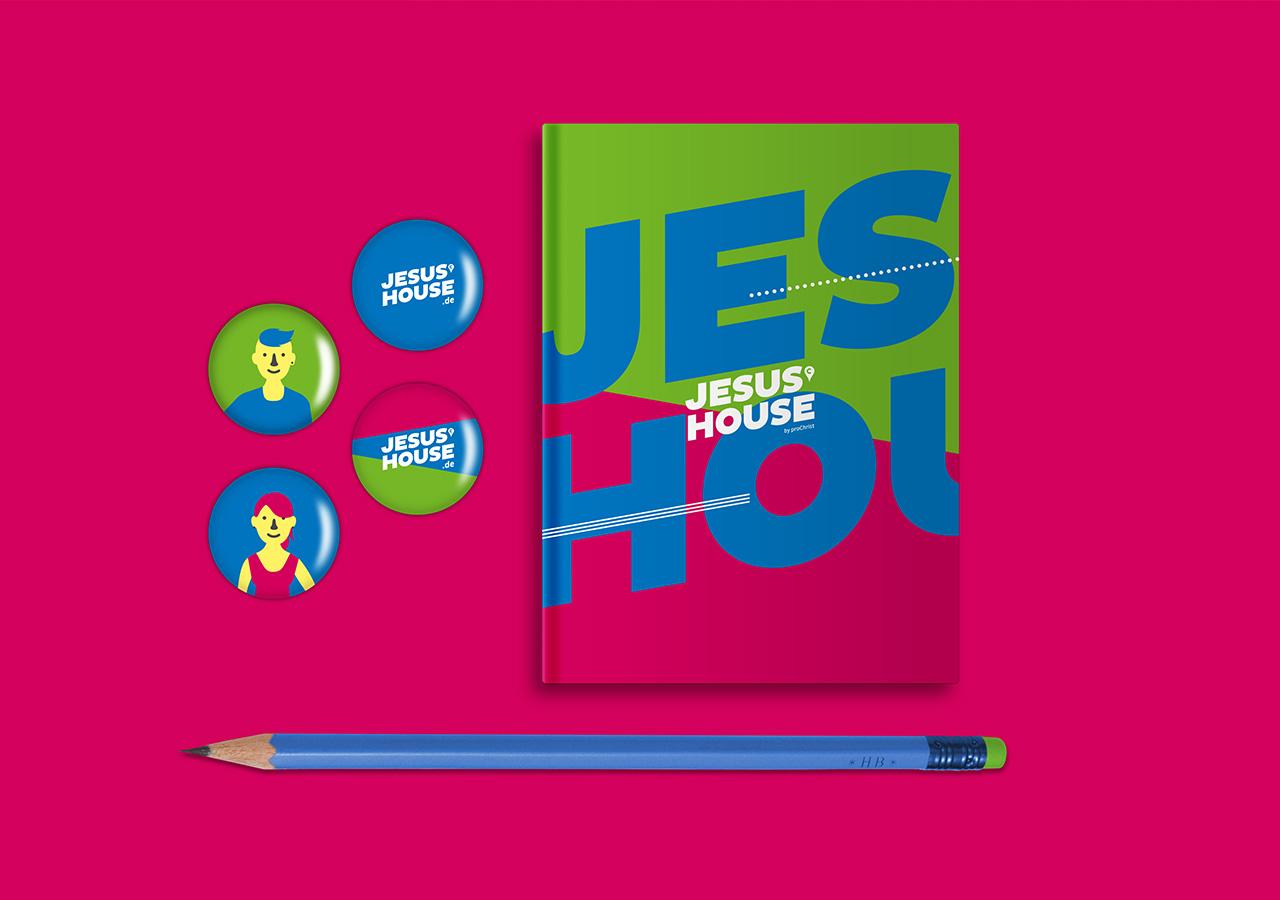 Jesushouse Merchandise ©gobasil GmbH ~ Agentur für Kommunikation, Hamburg Hannover
