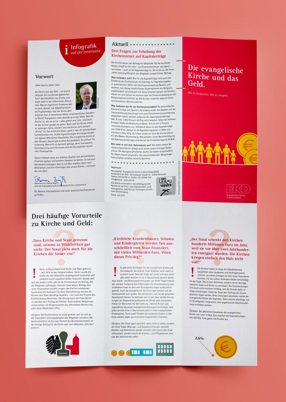 EKD Flyer zur Kirchensteuer ©gobasil ~ Agentur für Kommunikation, Hamburg Hannover