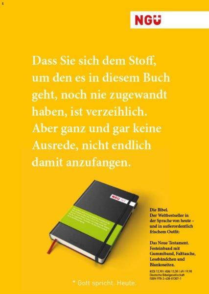 NGÜ Kampagne ©gobasil ~ Agentur für Kommunikation, Hamburg Hannover