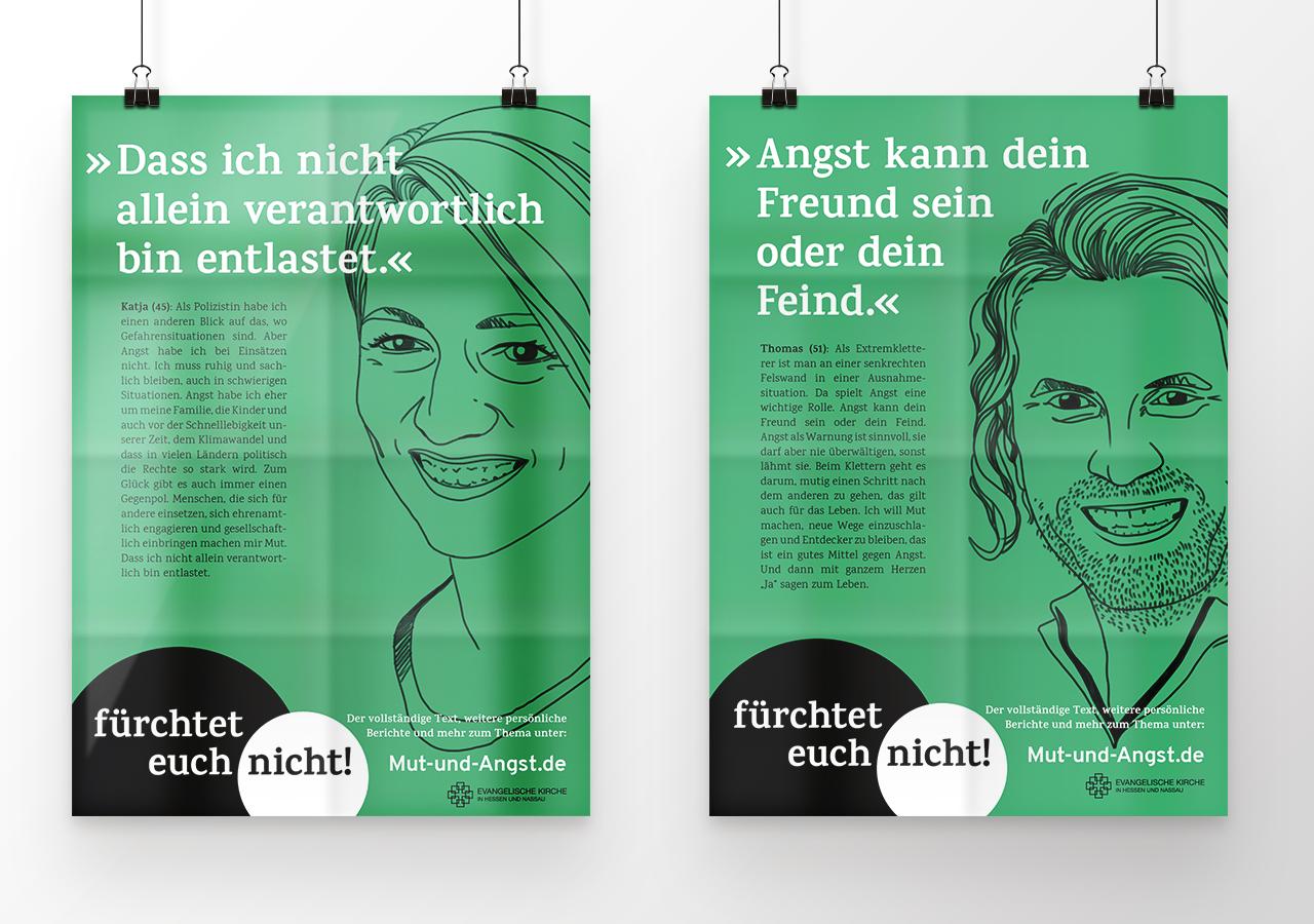 Mut und Angst Impulspost EKHN ©gobasil GmbH ~ Agentur für Kommunikation, Hamburg Hannover