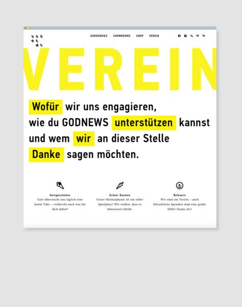 GODNEWS e.V. ©gobasil GmbH ~ Agentur für Kommunikation, Hamburg Hannover